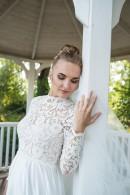 Свадебное платье из шелка