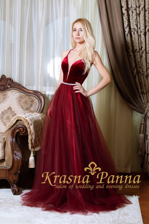 вечернее платье,длинное платье,платье на выпускной бал,красивое платье,бордовое платье,бархат
